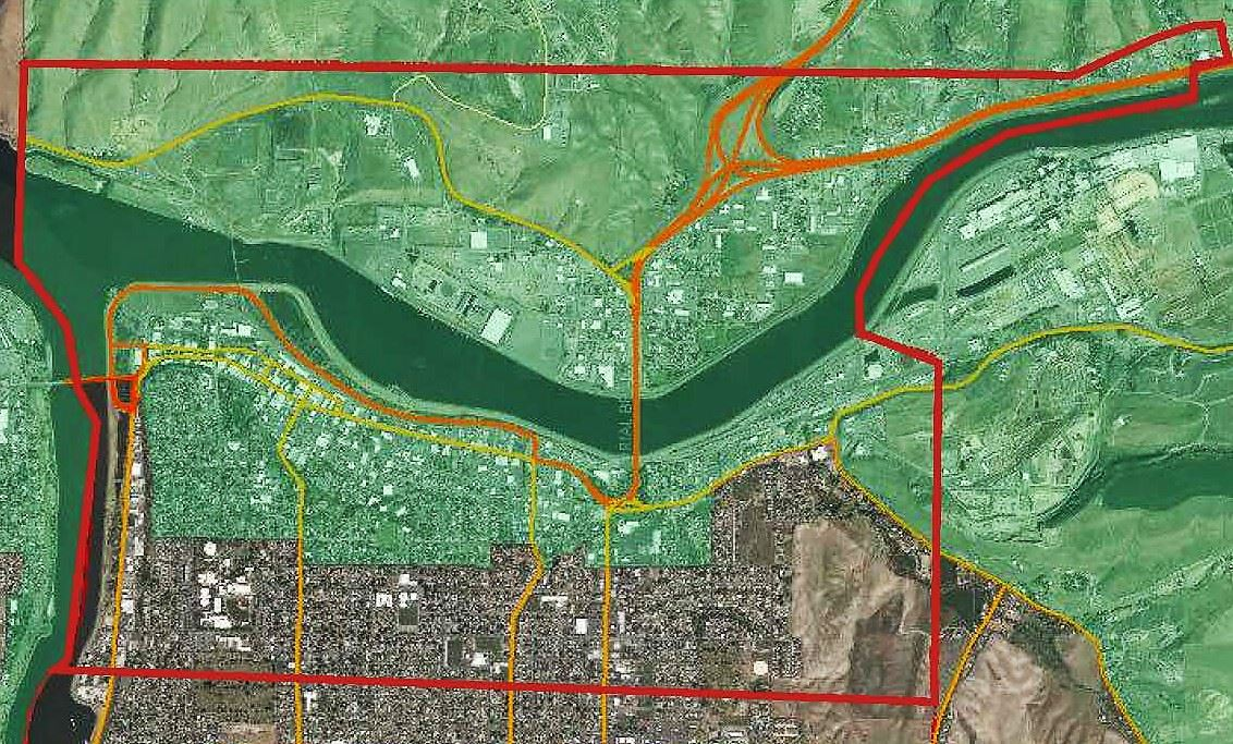 Map of Lewiston Opportunity Zone