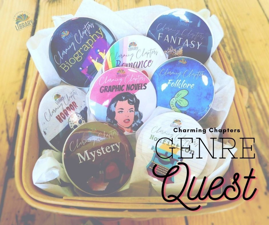Basket of Charming Chapters Genre Charms (Buttons)