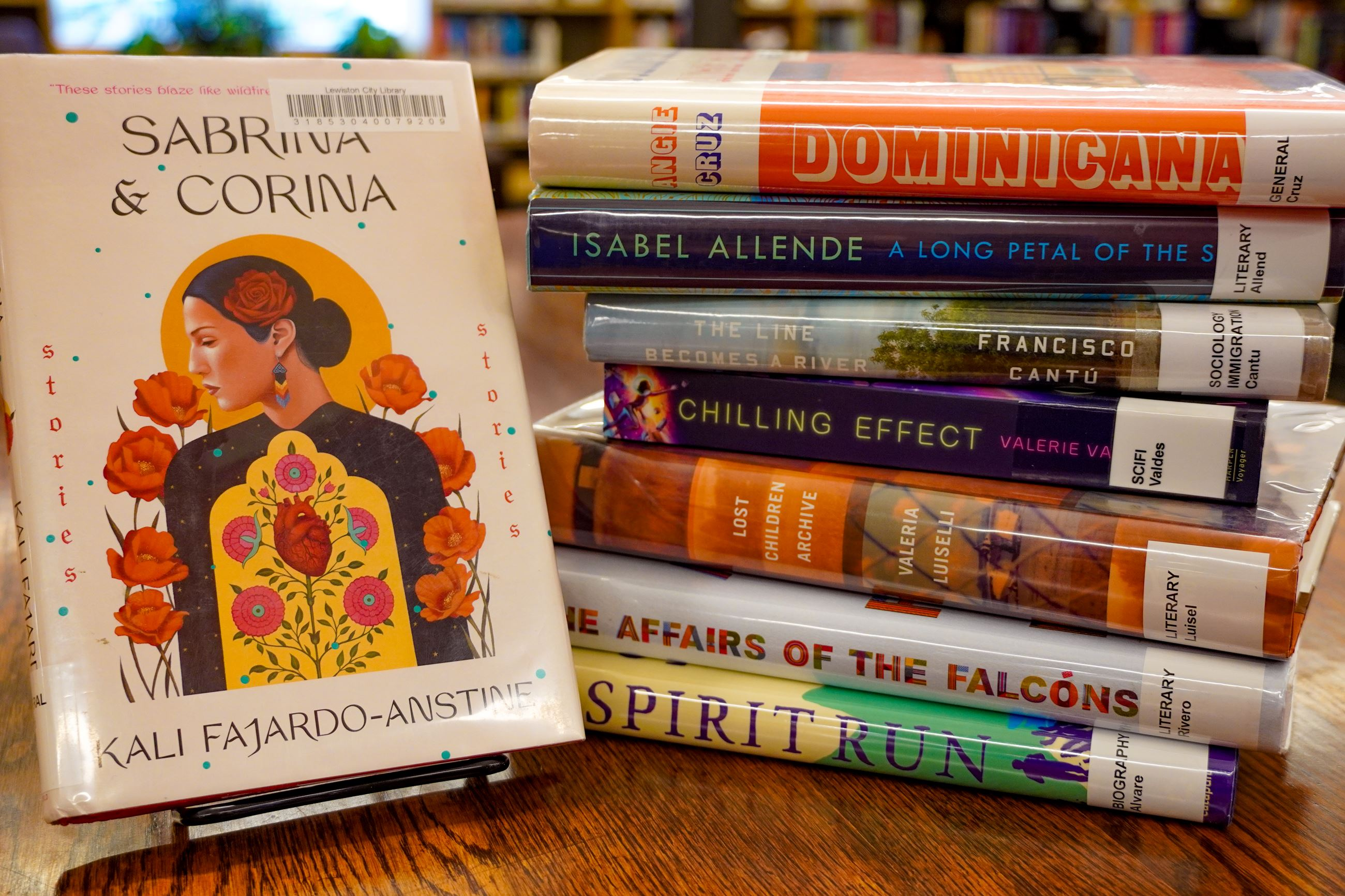 Stack of books for Hispanic American Heritage Month