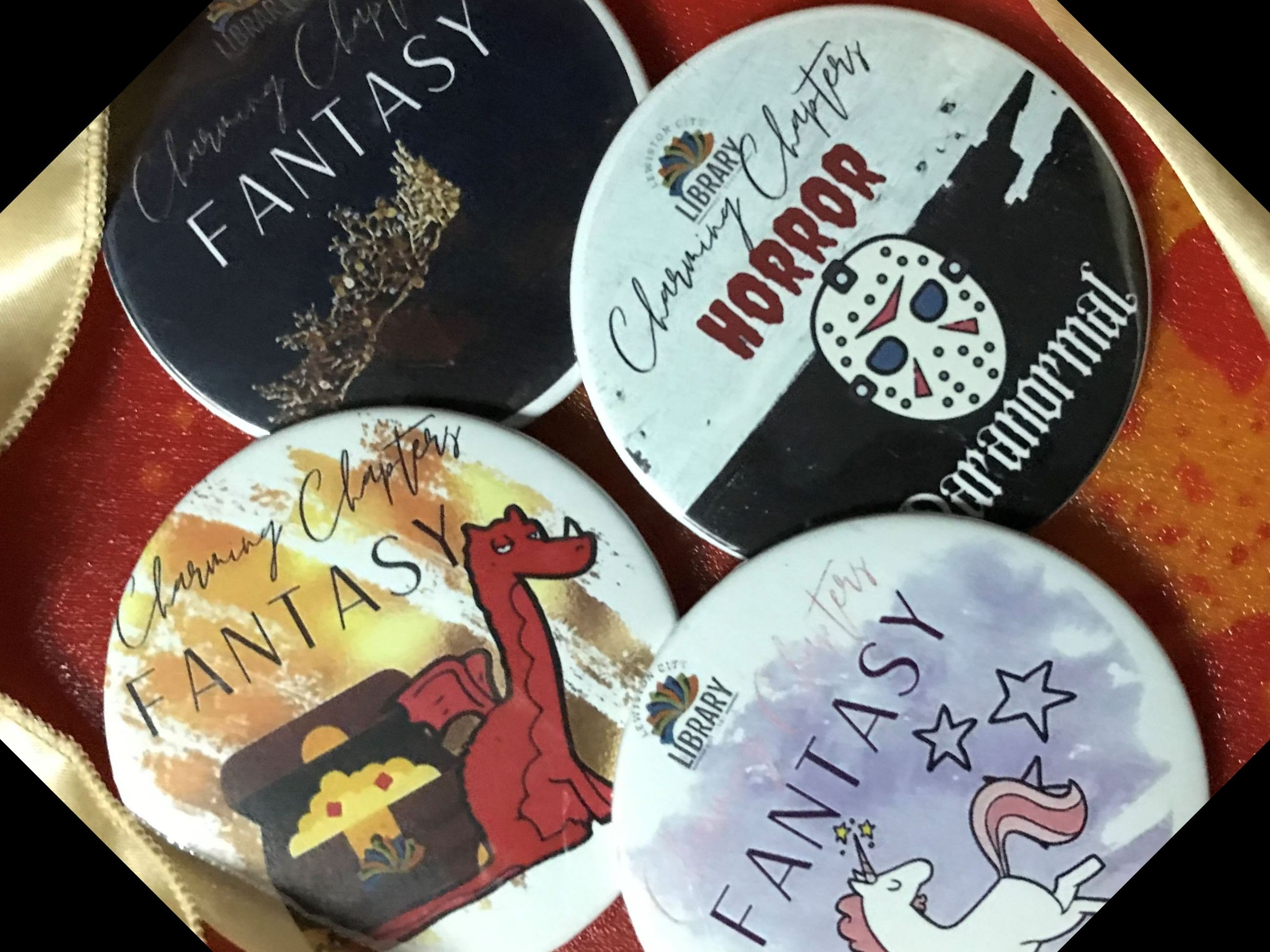 Genre Quest October Buttons