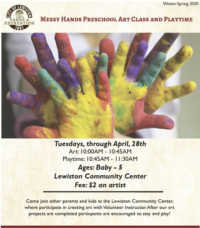 Messy Hands Preschool Art and Playtime