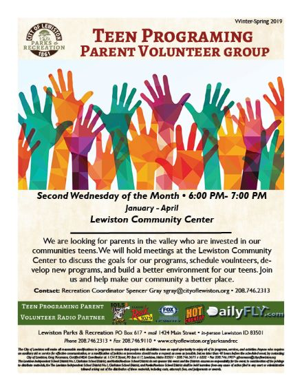 Teen Programming Parent Volunteer Group